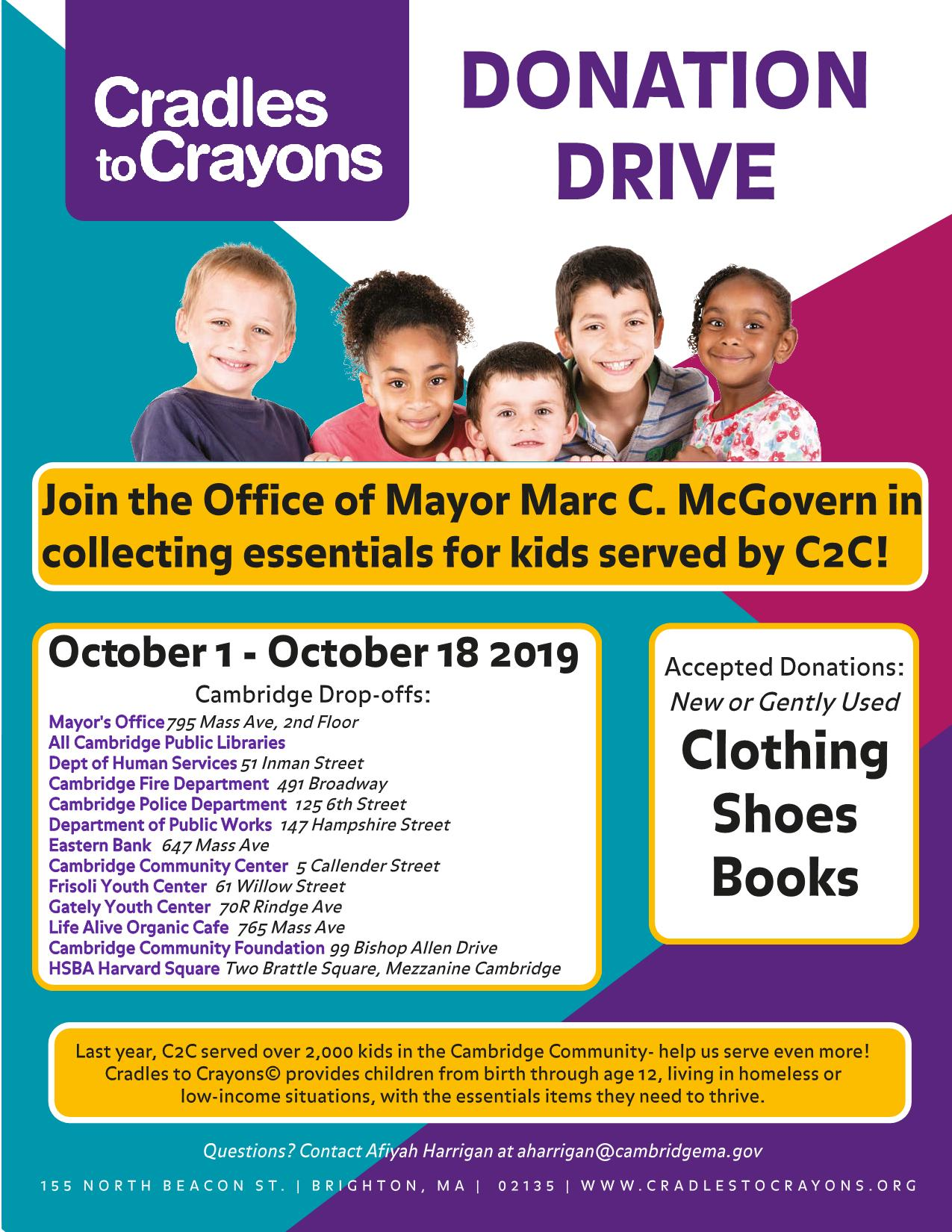 Image of Cradles to Crayons Donation Drive event
