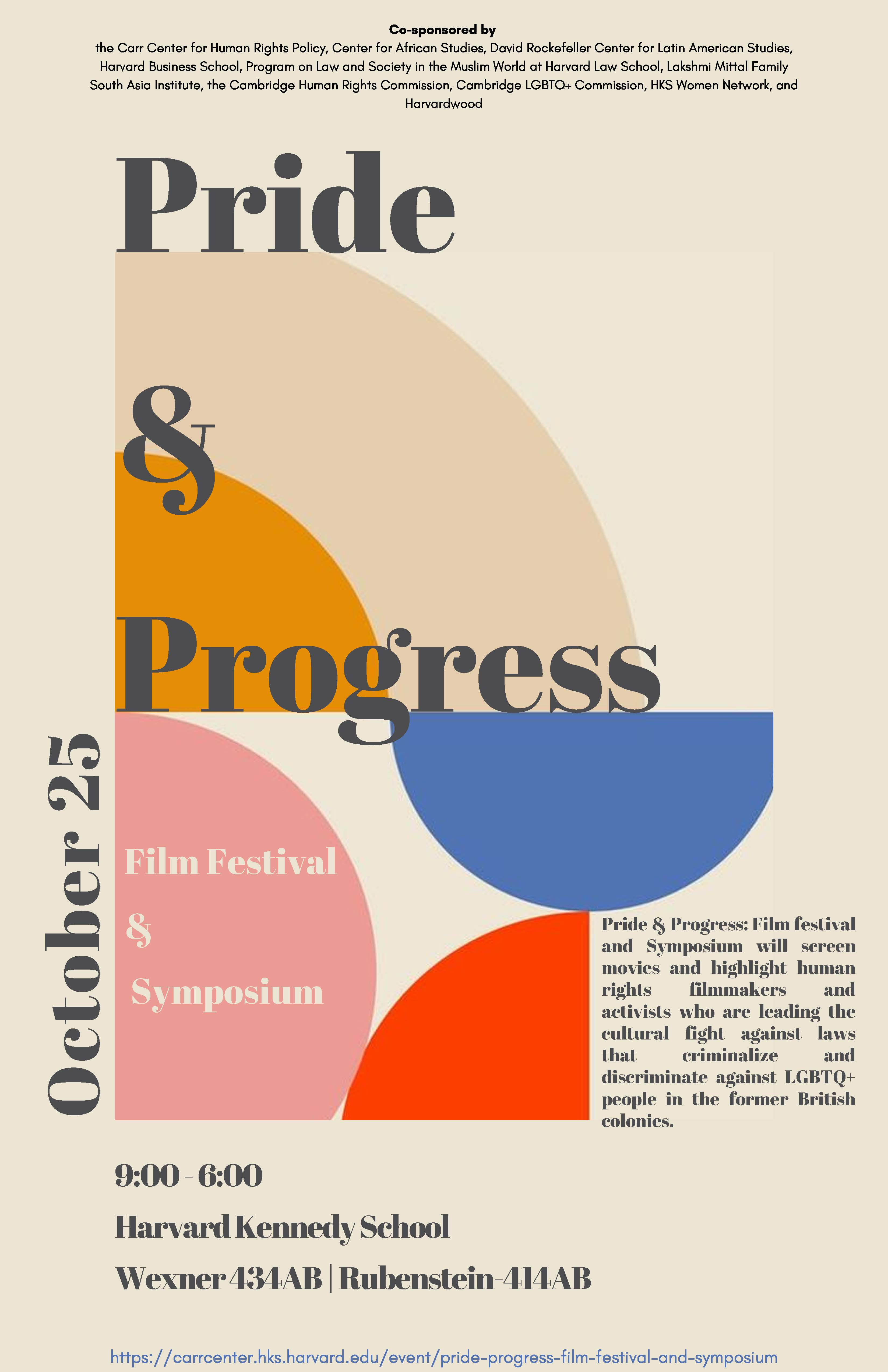 flyer for Pride and Progress Poster