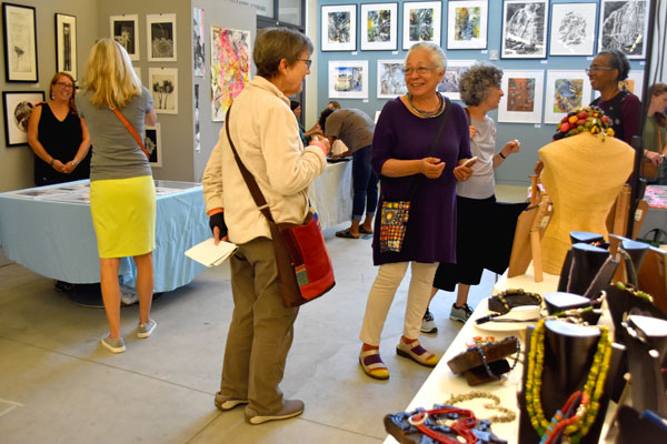Artists share there work at Lesley University during the 2018 Cambridge Arts Open Studios.