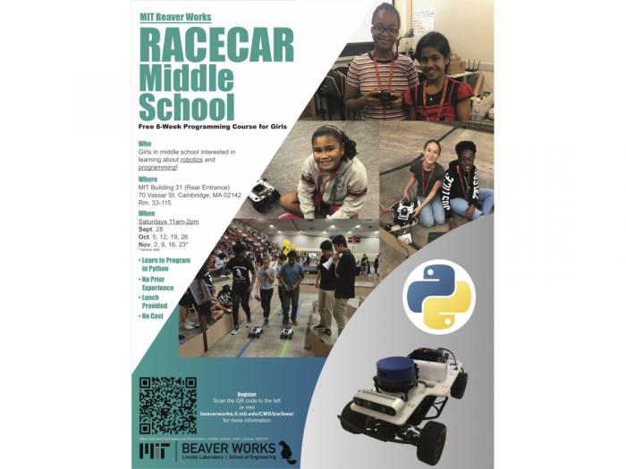 Image of RACECAR Middle School with MIT Beaver Works program