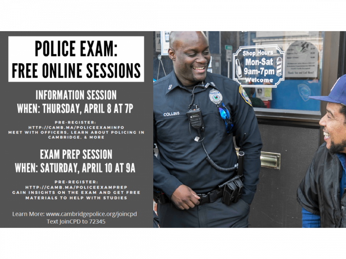 Cambridge Police Exam - Free Online Session