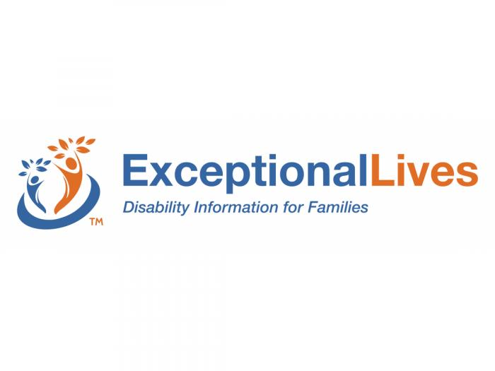 Logo, which says: Exceptional Lives: Disability Information for Families