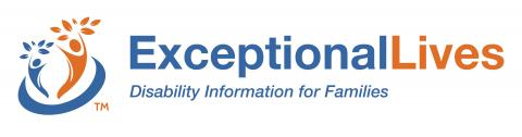 Logo, which says: Exceptional Lives, Disability Information for Families