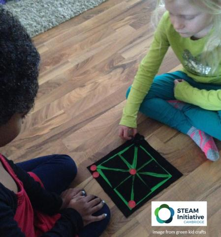 two girls playing a game