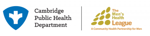 Cambridge Public Health Department and Men's Health League Logo