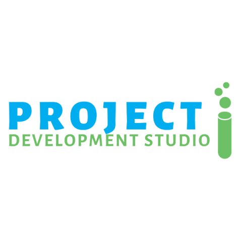 Project Development Studio logo in blue and green