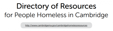 Resources for People Homeless in Cambridge Guide