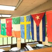 Flags from all around the world.
