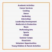 Activities List photo.